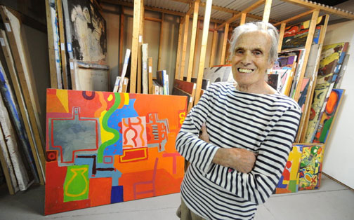 Bill Barrell in his studio