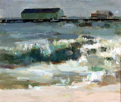 "Bruce McKain, South Wester, oil on canvas, 20"" x 24"""